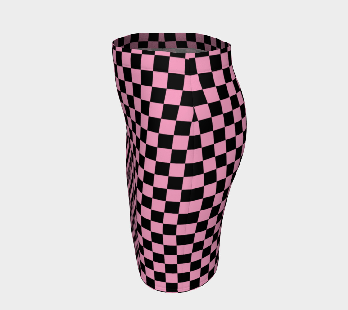 Aperçu de Black and Carnation Pink Checkerboard Squares #2