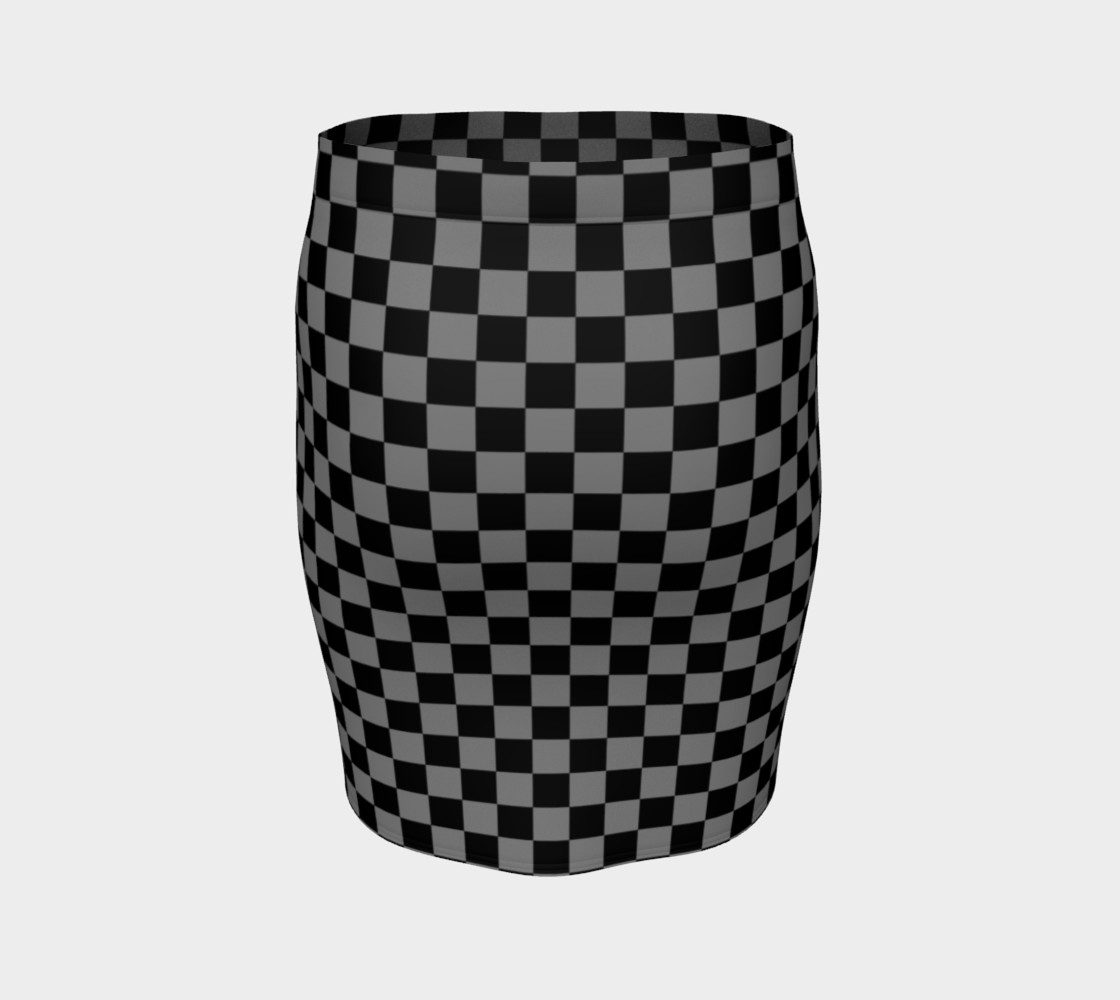 Aperçu de Black and Medium Grey Checkerboard Squares #4