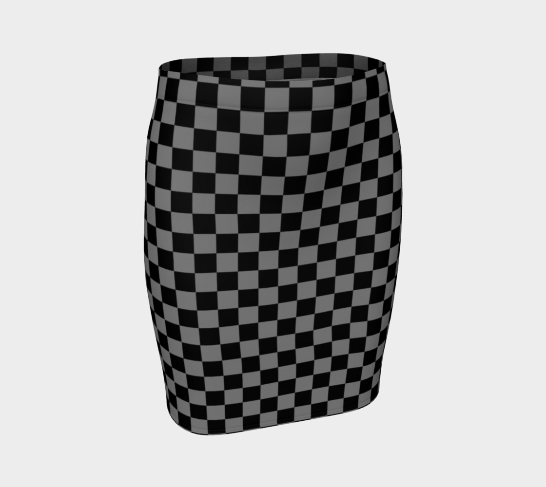 Aperçu de Black and Medium Grey Checkerboard Squares #1
