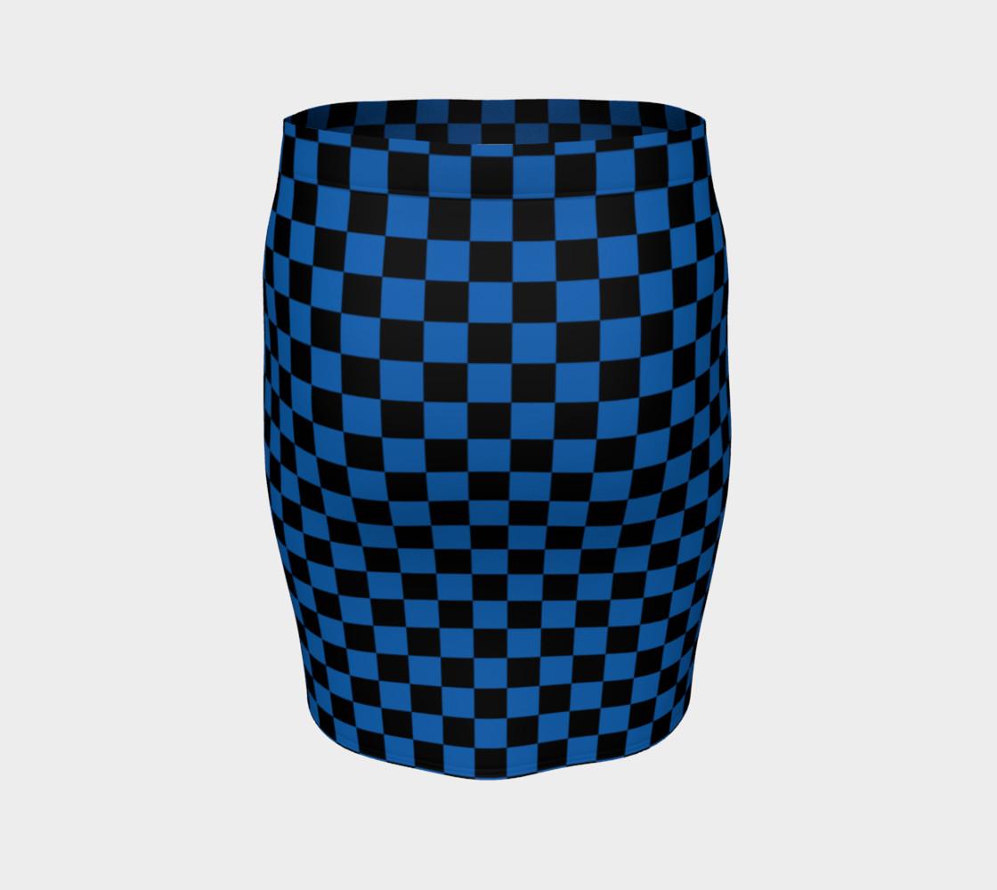 Aperçu de Black and Turquoise Blue Checkerboard Squares #4