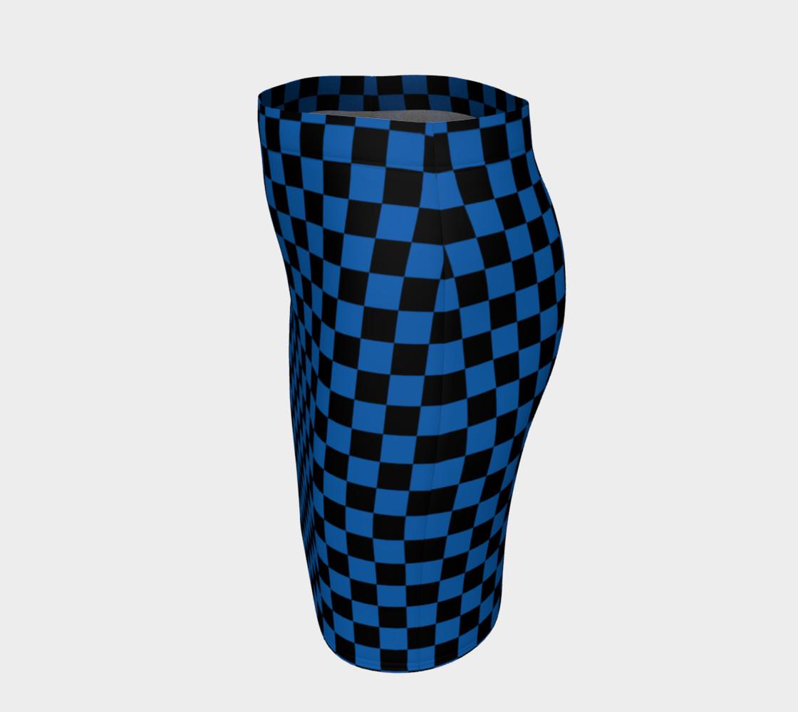 Aperçu de Black and Turquoise Blue Checkerboard Squares #2
