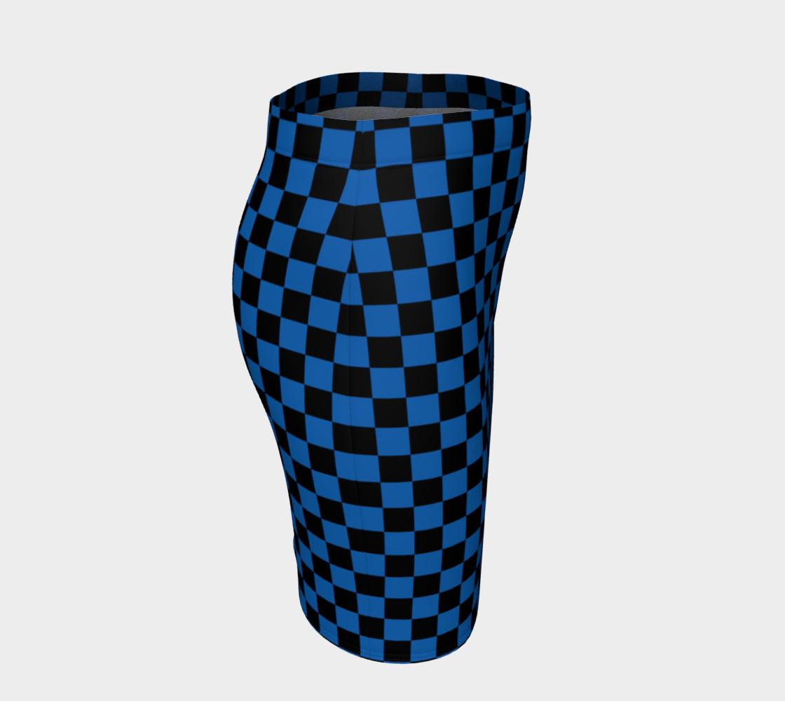 Aperçu de Black and Turquoise Blue Checkerboard Squares #3
