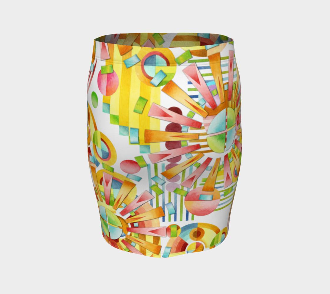 Aperçu de Art Deco Fireworks Fitted Skirt #4