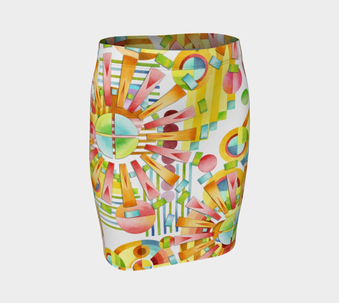 Aperçu de Art Deco Fireworks Fitted Skirt #1