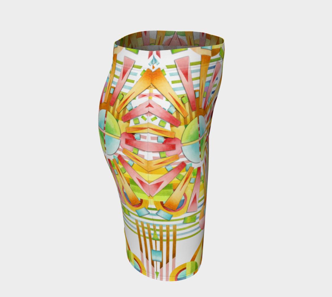 Aperçu de Art Deco Fireworks Fitted Skirt #3