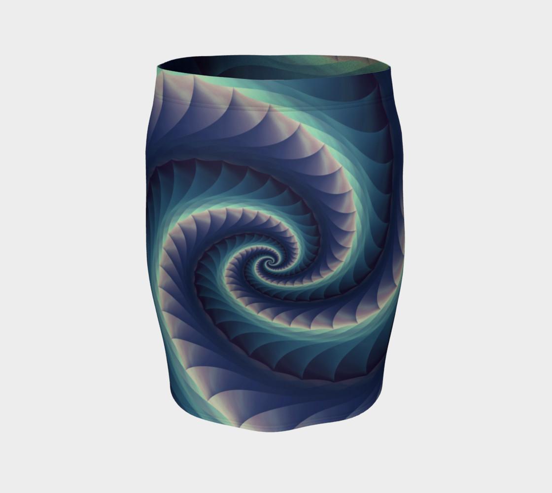 Aperçu de Turquoise & Purple Spiral Fractal #4