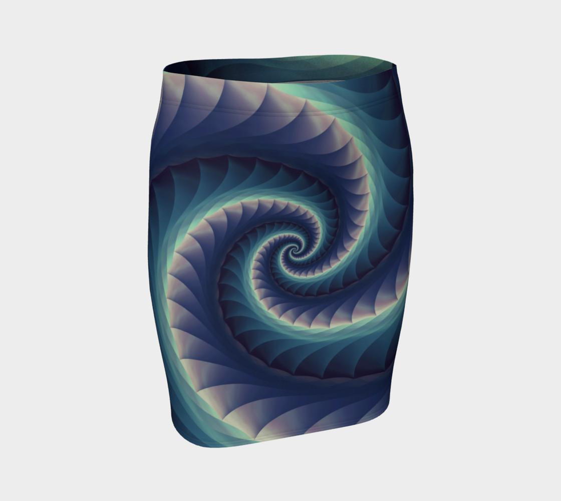 Aperçu de Turquoise & Purple Spiral Fractal #1