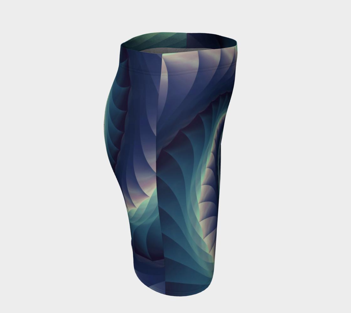 Aperçu de Turquoise & Purple Spiral Fractal #3