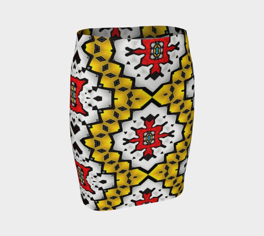 Aperçu de Fitted skirt-yellow mist #1