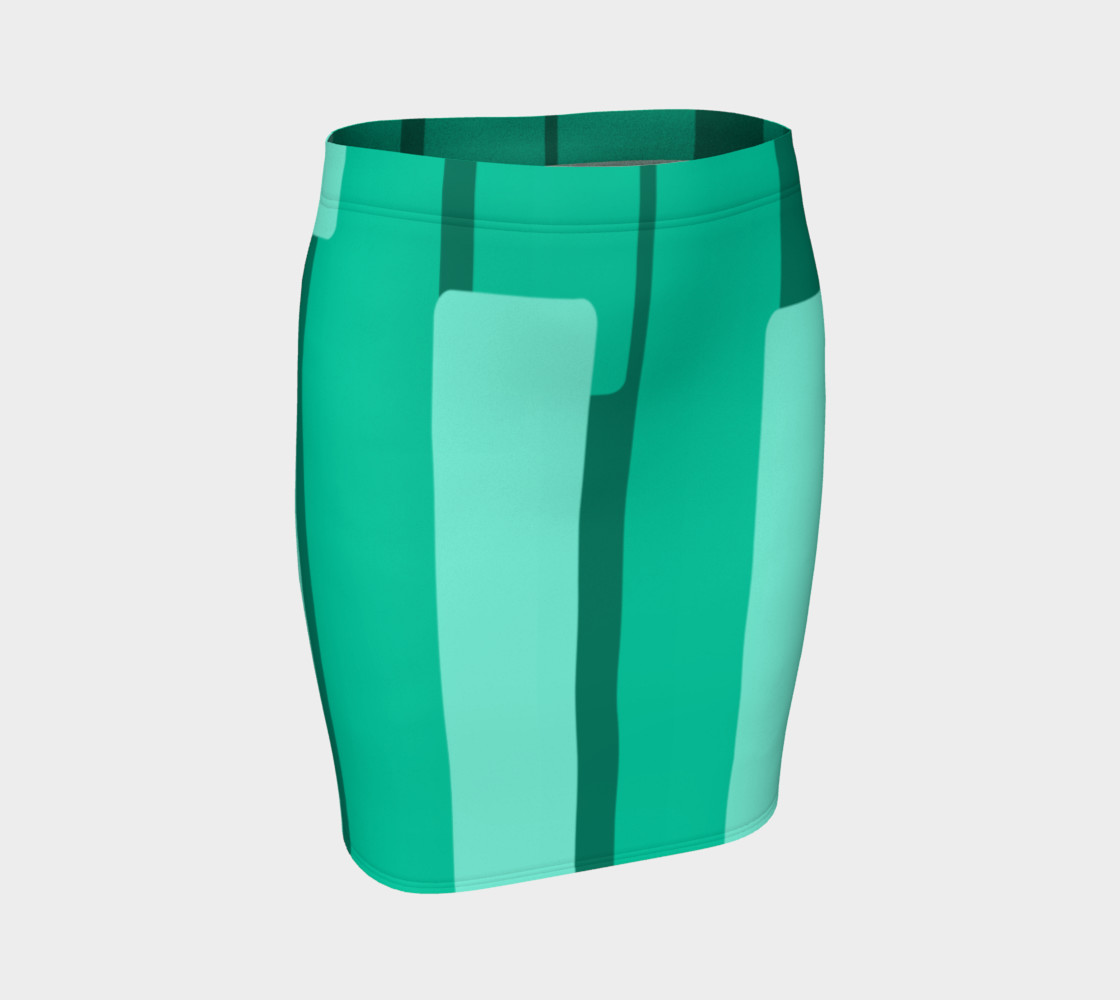 Teal Ocean Fitted Skirt preview #1