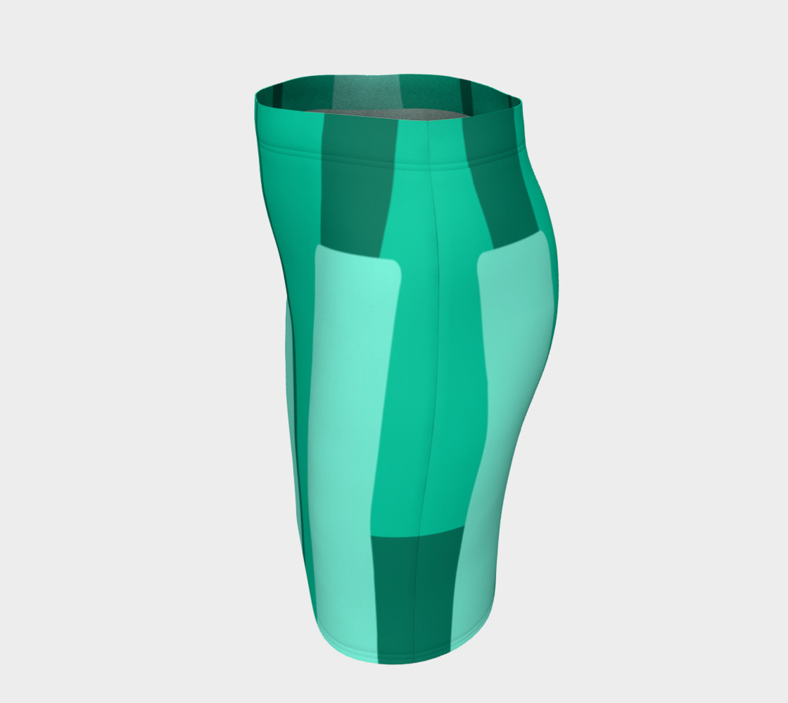 Teal Ocean Fitted Skirt preview #2