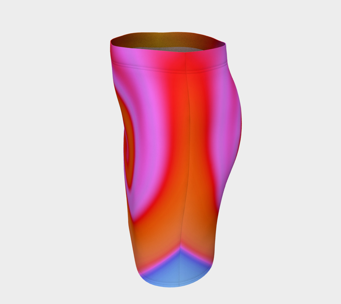 Bright Colorful Orange Pink Swirl Abstract preview #2