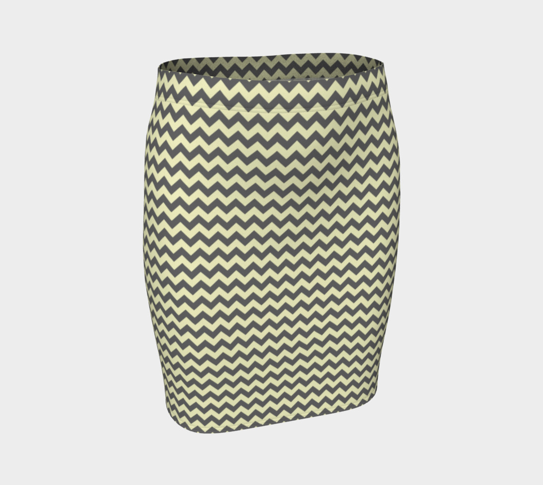GREY & LINEN CHEVRON FITTED SKIRT preview #1
