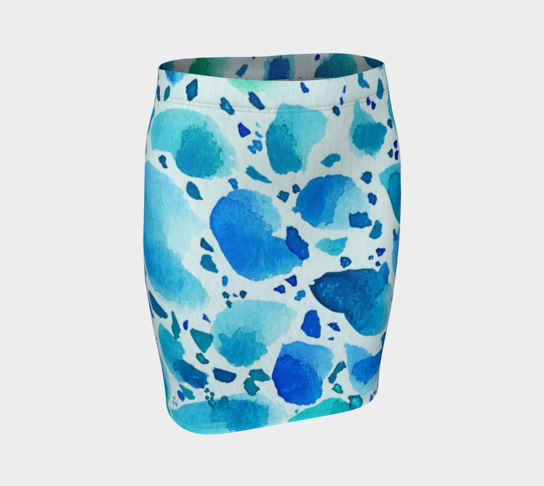 Blue Watercolor Dalmatian Pattern preview #1