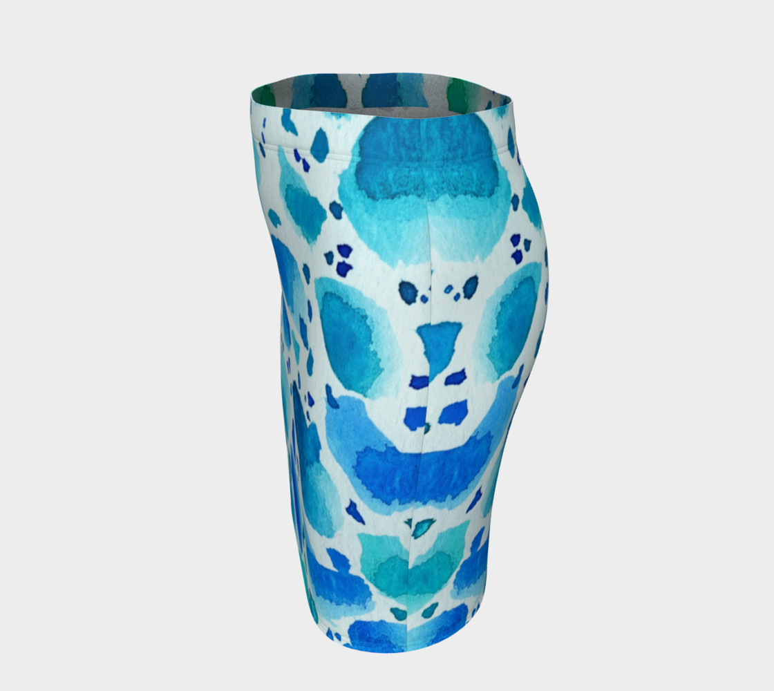 Blue Watercolor Dalmatian Pattern preview #2