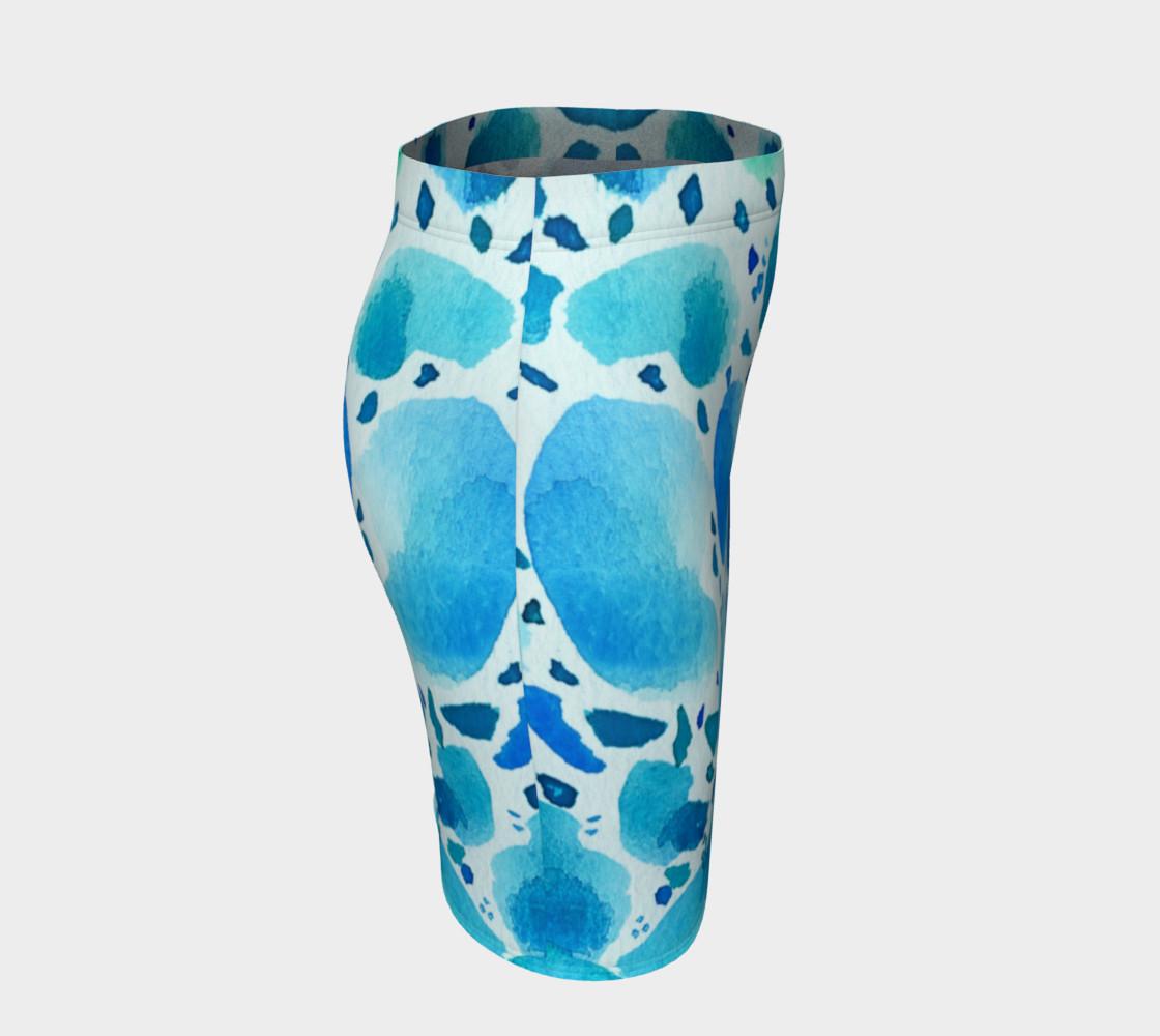 Blue Watercolor Dalmatian Pattern preview #3