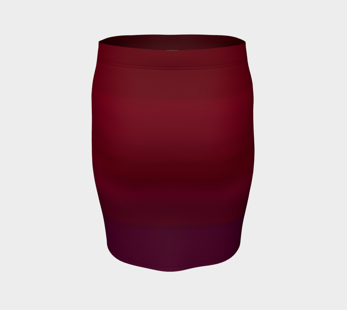 Red Fitted Skirt preview #4