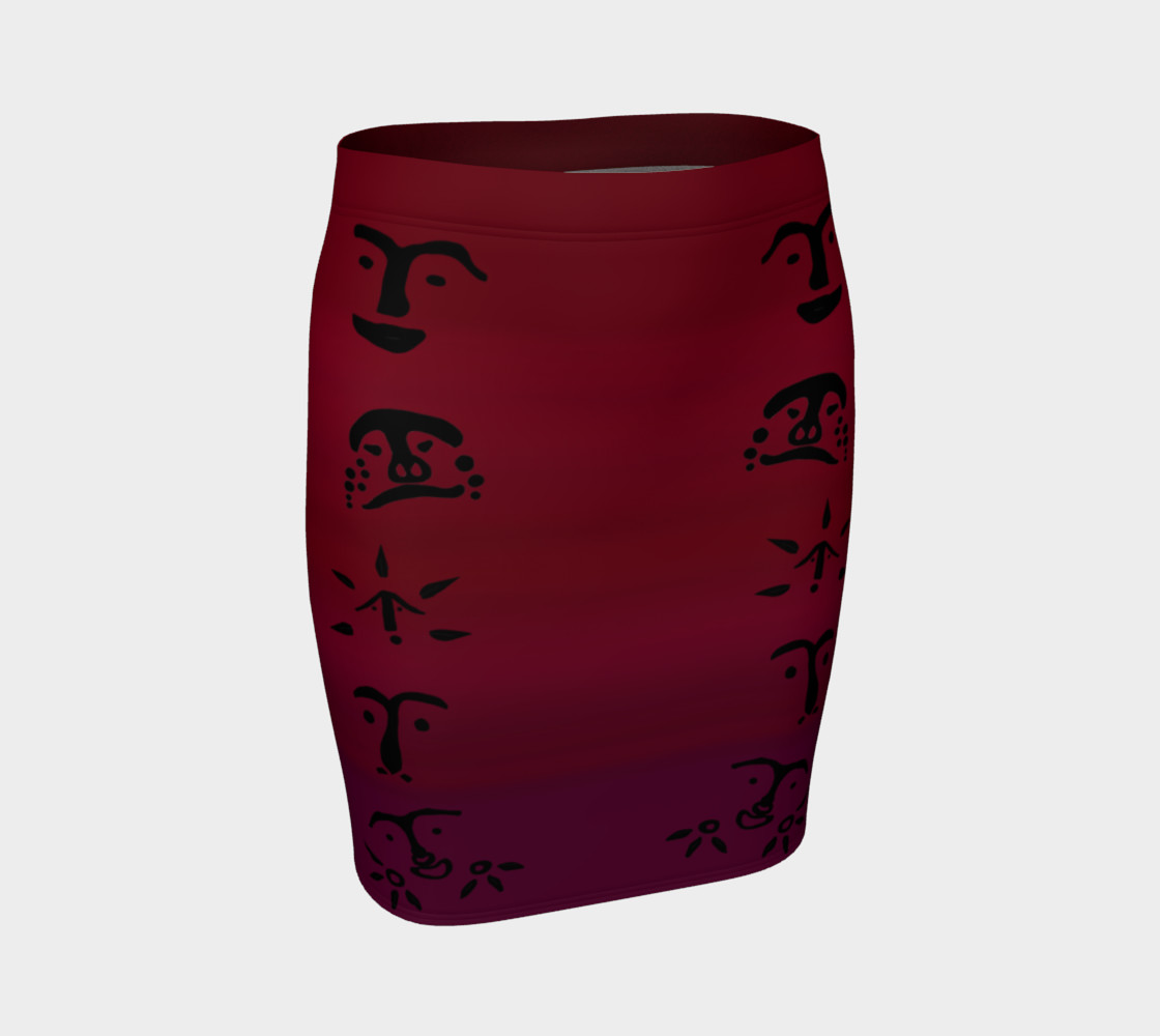 Red Fitted Skirt preview #1