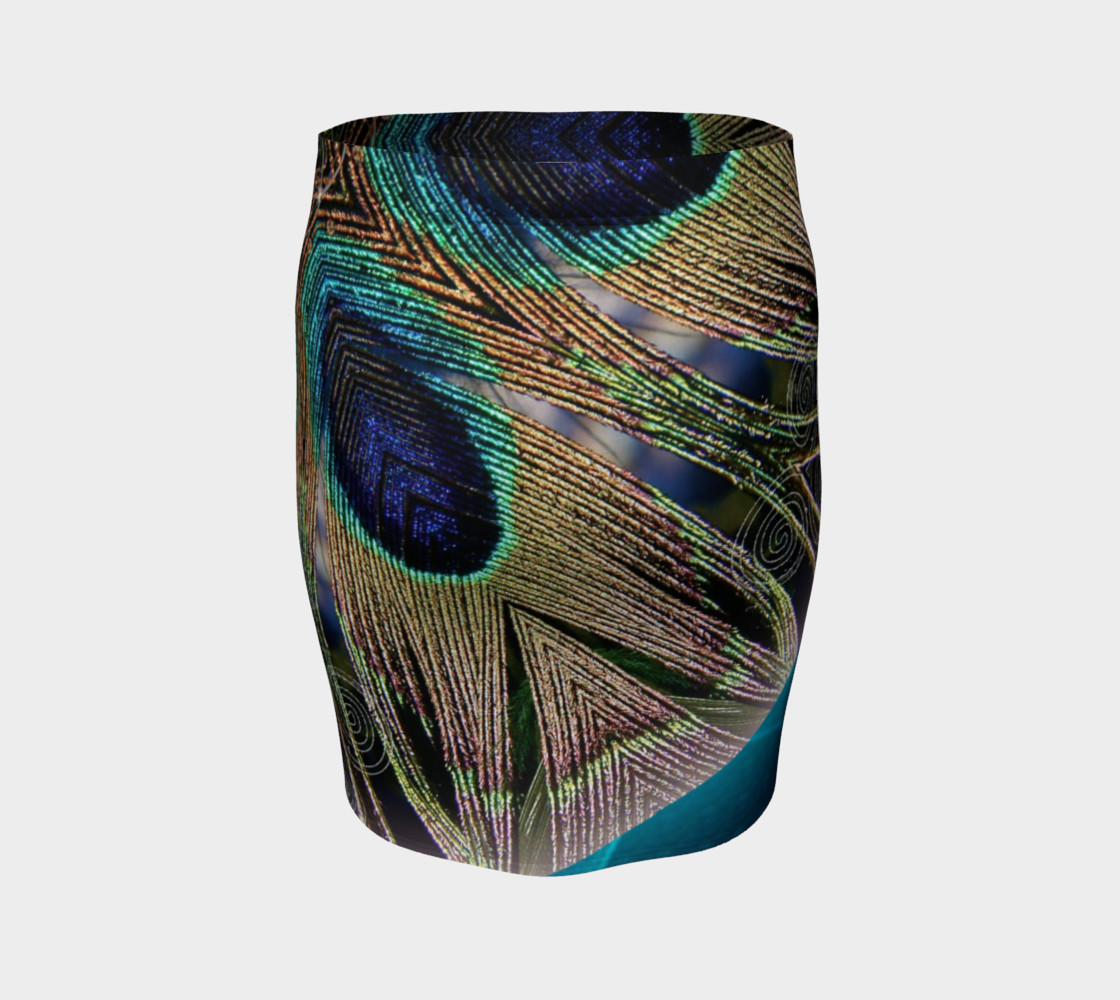 Peacock Power Fitted Skirt preview #4