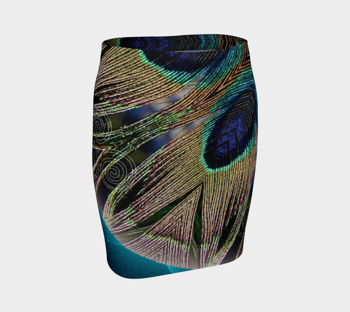 Peacock Power Fitted Skirt preview #1