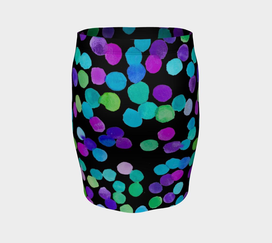 Aperçu de Blue Purple Watercolour Dots #4