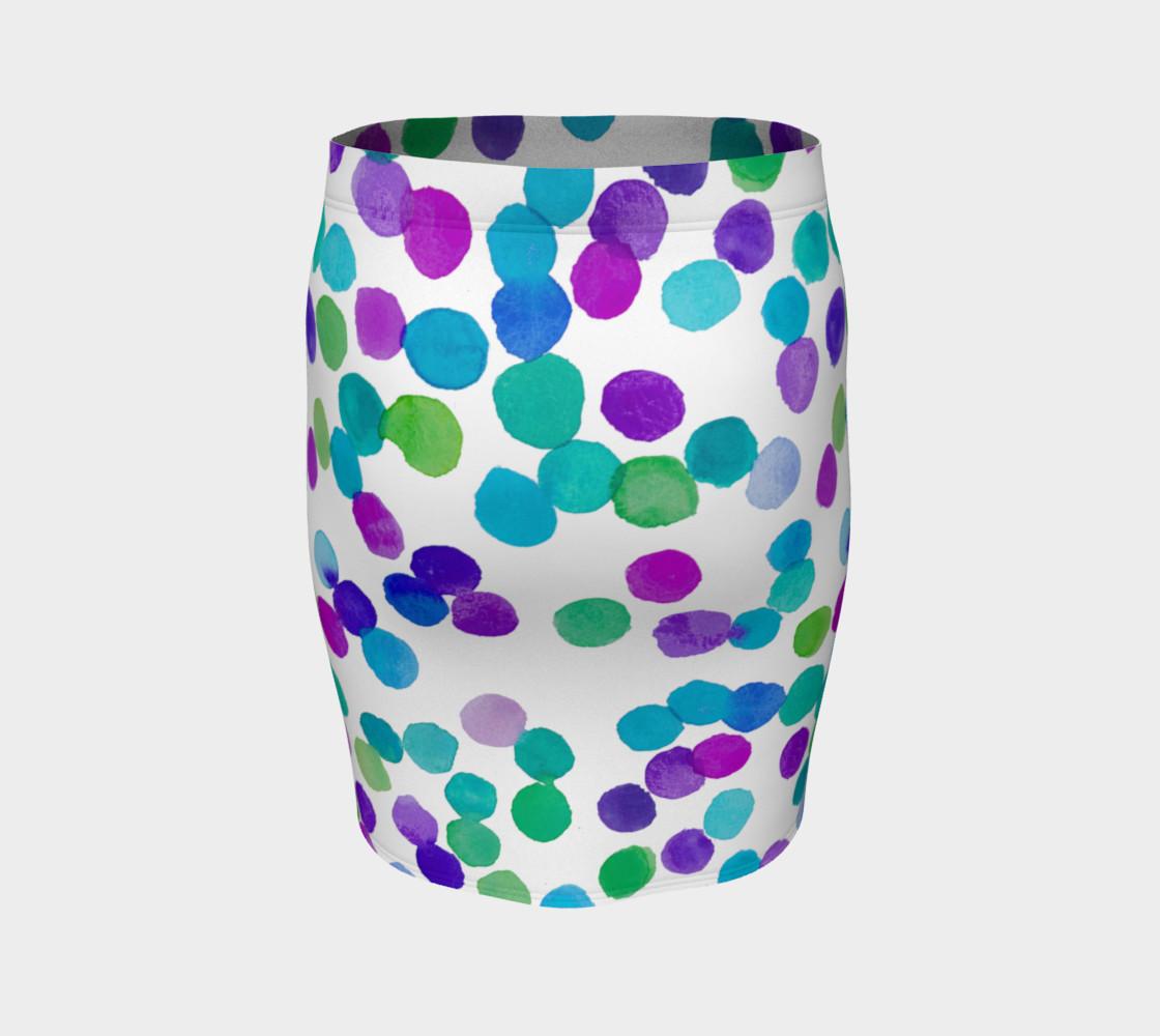 Blue Purple Watercolour Dots preview #4