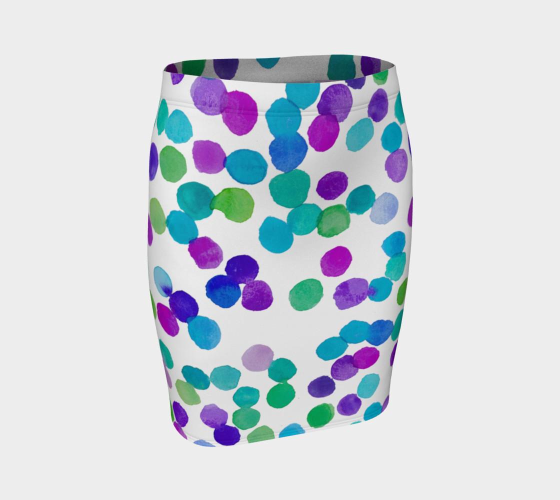 Blue Purple Watercolour Dots preview #1