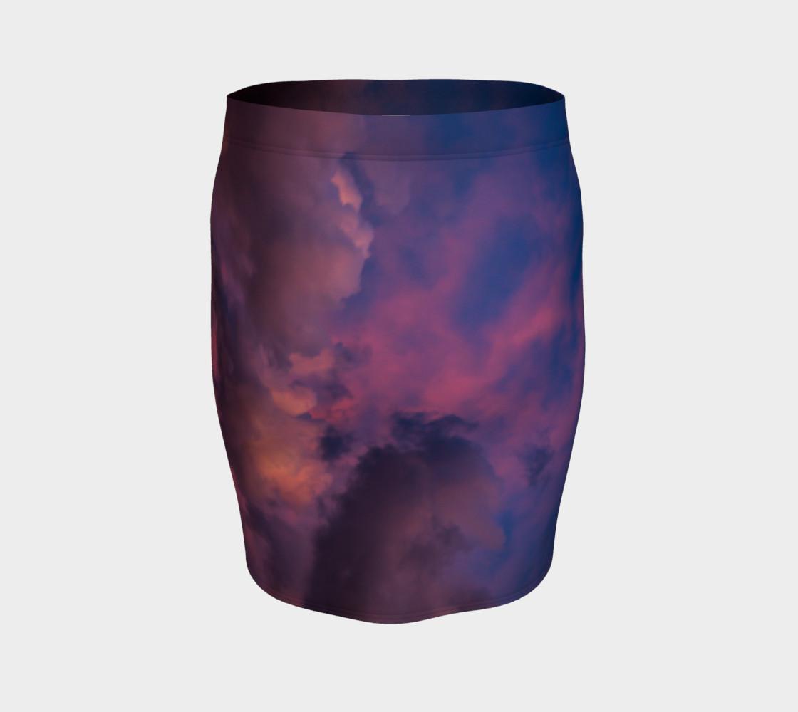 Aperçu de Tie Die Sky fitted skirt #4