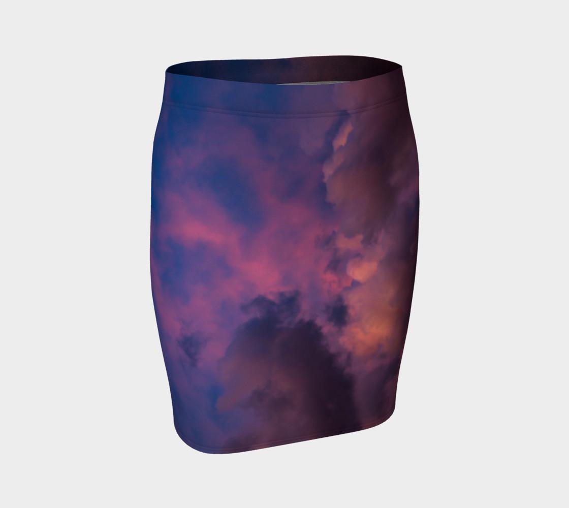 Aperçu de Tie Die Sky fitted skirt #1