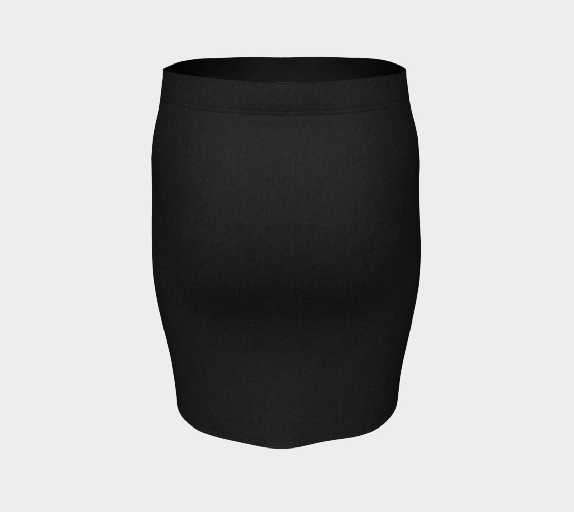 Charcoal | Fitted Skirt preview #4