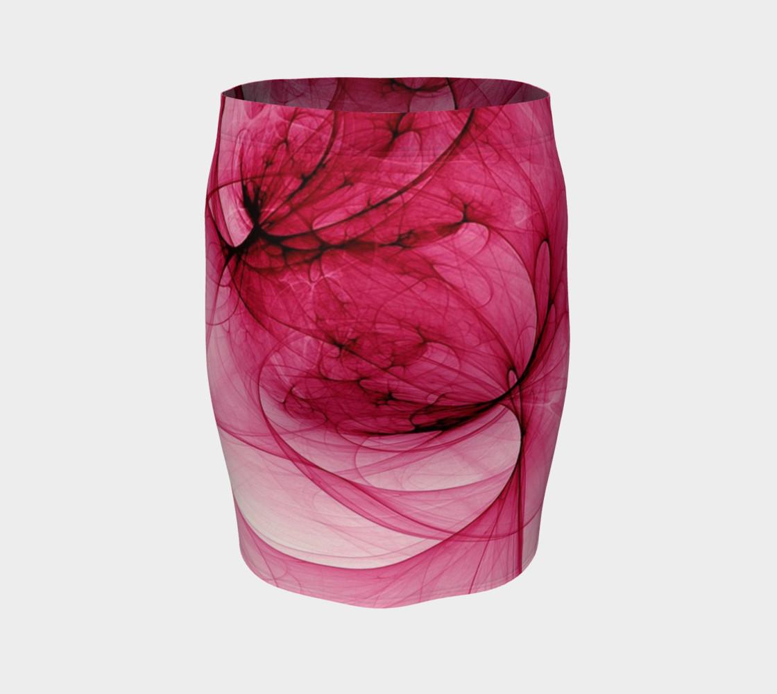 Aperçu de Modern Abstract Rose Fitted Skirt #4