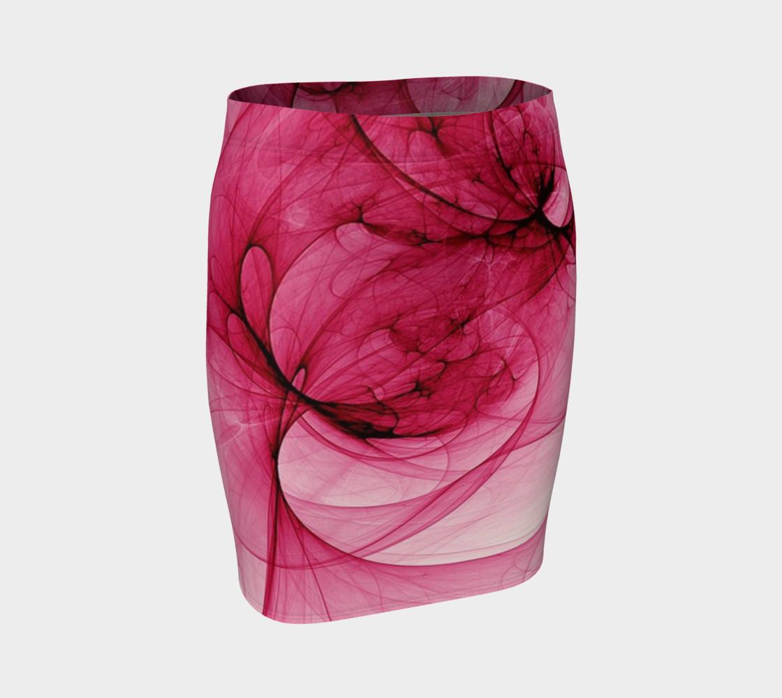 Aperçu de Modern Abstract Rose Fitted Skirt #1