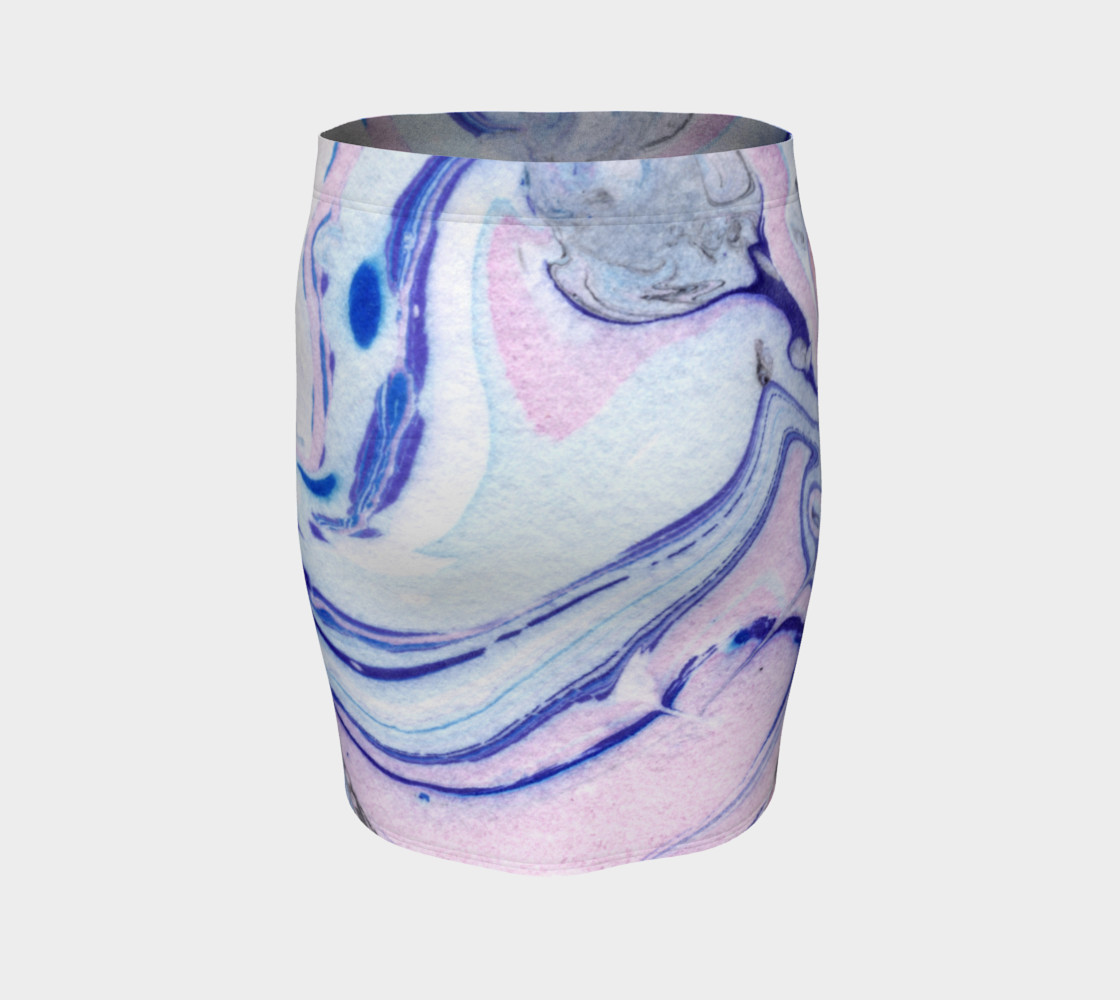 Pink Marble Abstract Pattern - Pencil Skirt preview #4