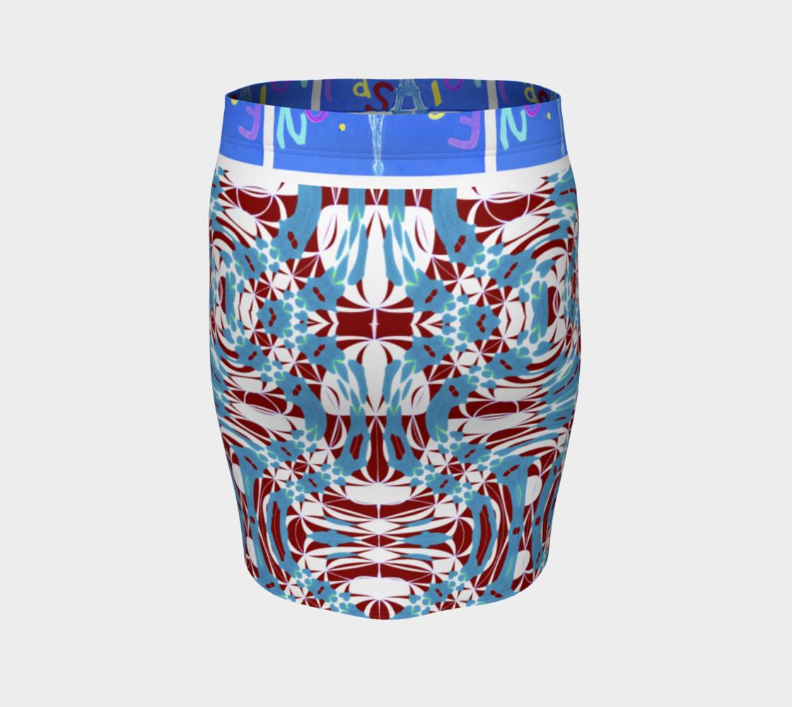 Aperçu de Fashion Art Central / Swirl Design Fitted Skirt w/Fashion Central Waistband #4