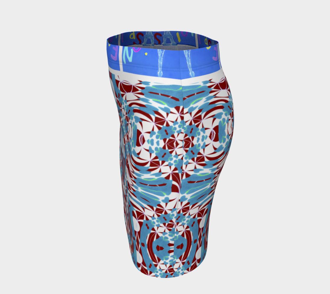 Aperçu de Fashion Art Central / Swirl Design Fitted Skirt w/Fashion Central Waistband #2
