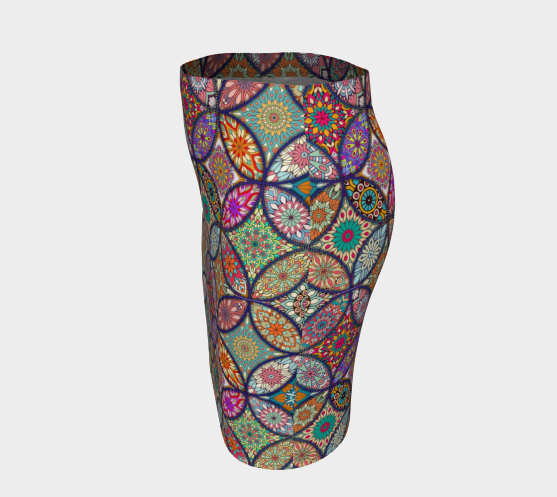 Vibrant Mandalas Fitted Skirt preview #2