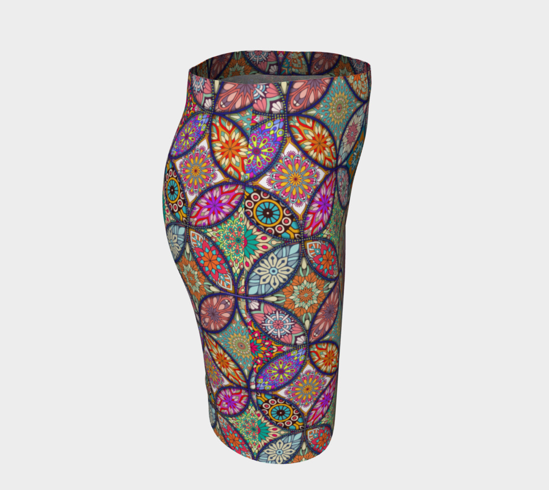 Vibrant Mandalas Fitted Skirt preview #3