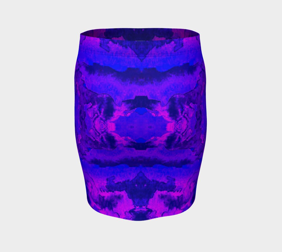 Aperçu de Purple mirror watercolor abstraction #4