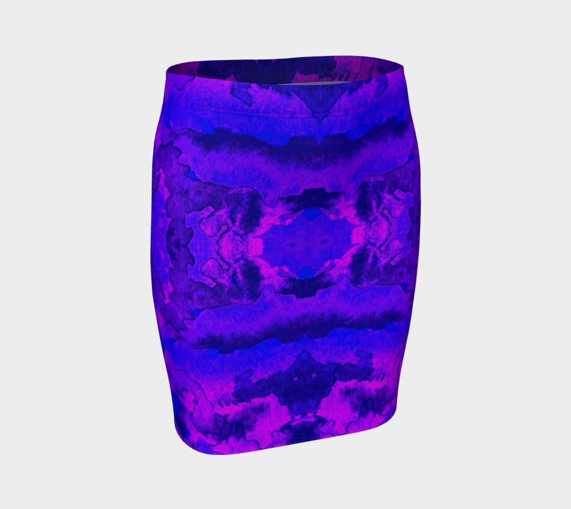 Aperçu de Purple mirror watercolor abstraction #1