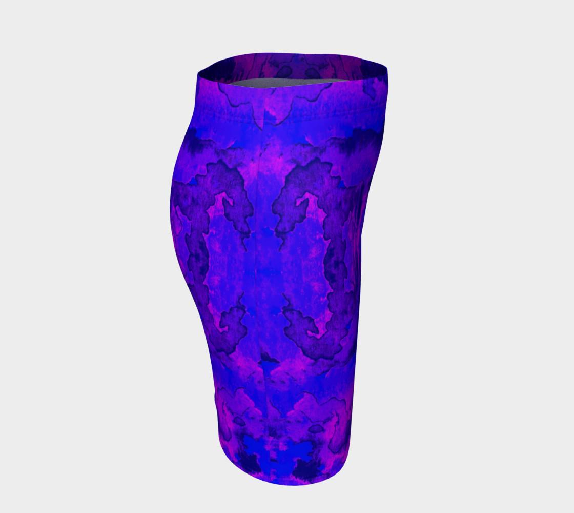Aperçu de Purple mirror watercolor abstraction #3