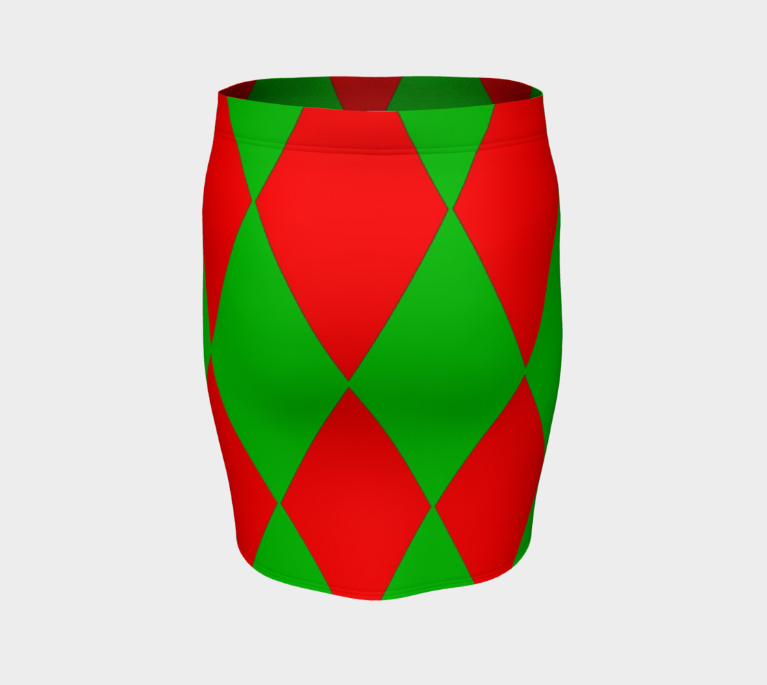 Christmas Harlequin Diamond Fitted Skirt preview #4