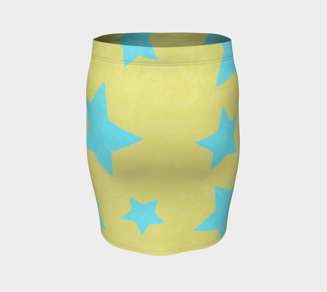 Yellow and Aqua Stars preview #4