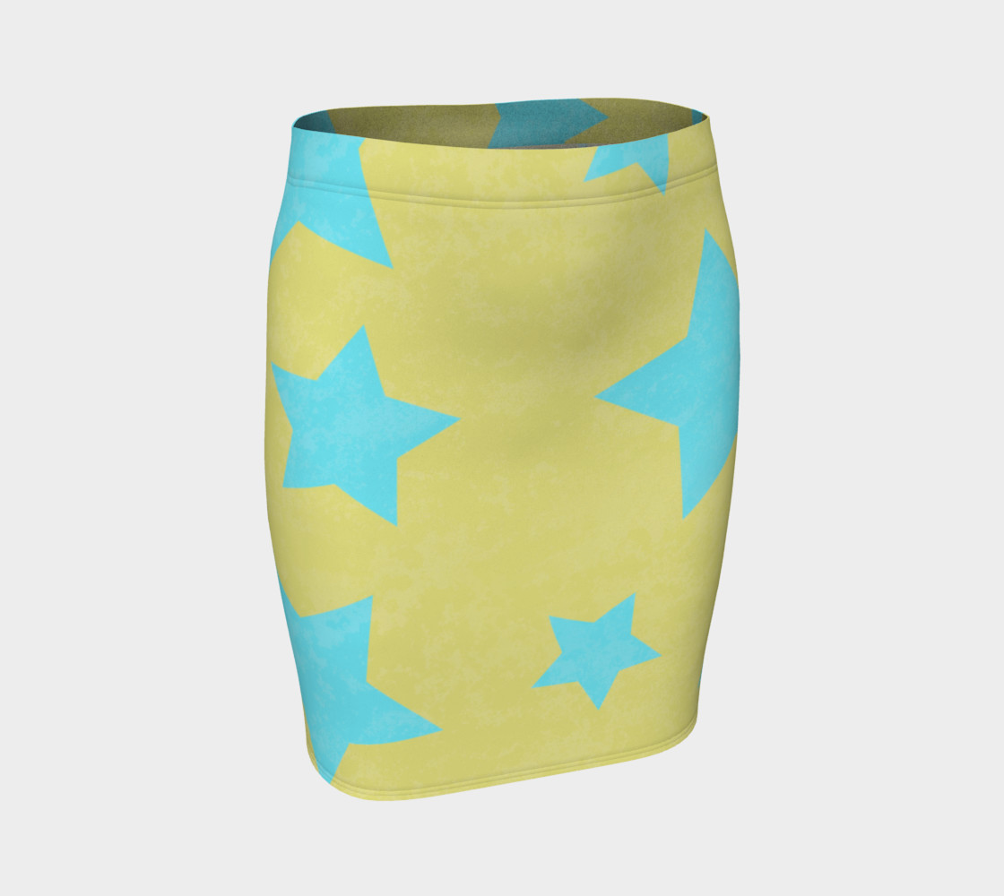 Yellow and Aqua Stars preview #1