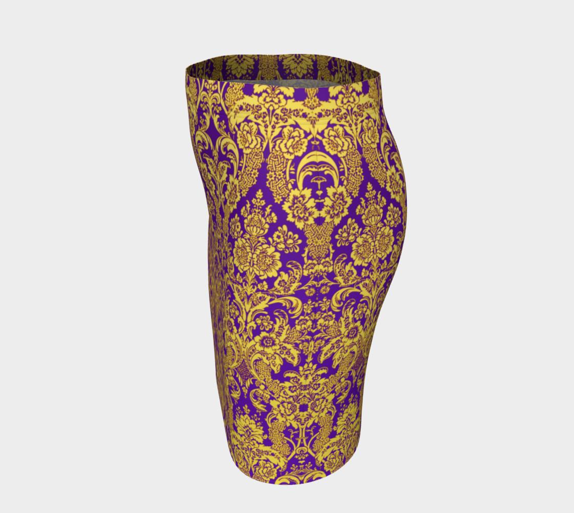 Aperçu de damask in purple and golden #2
