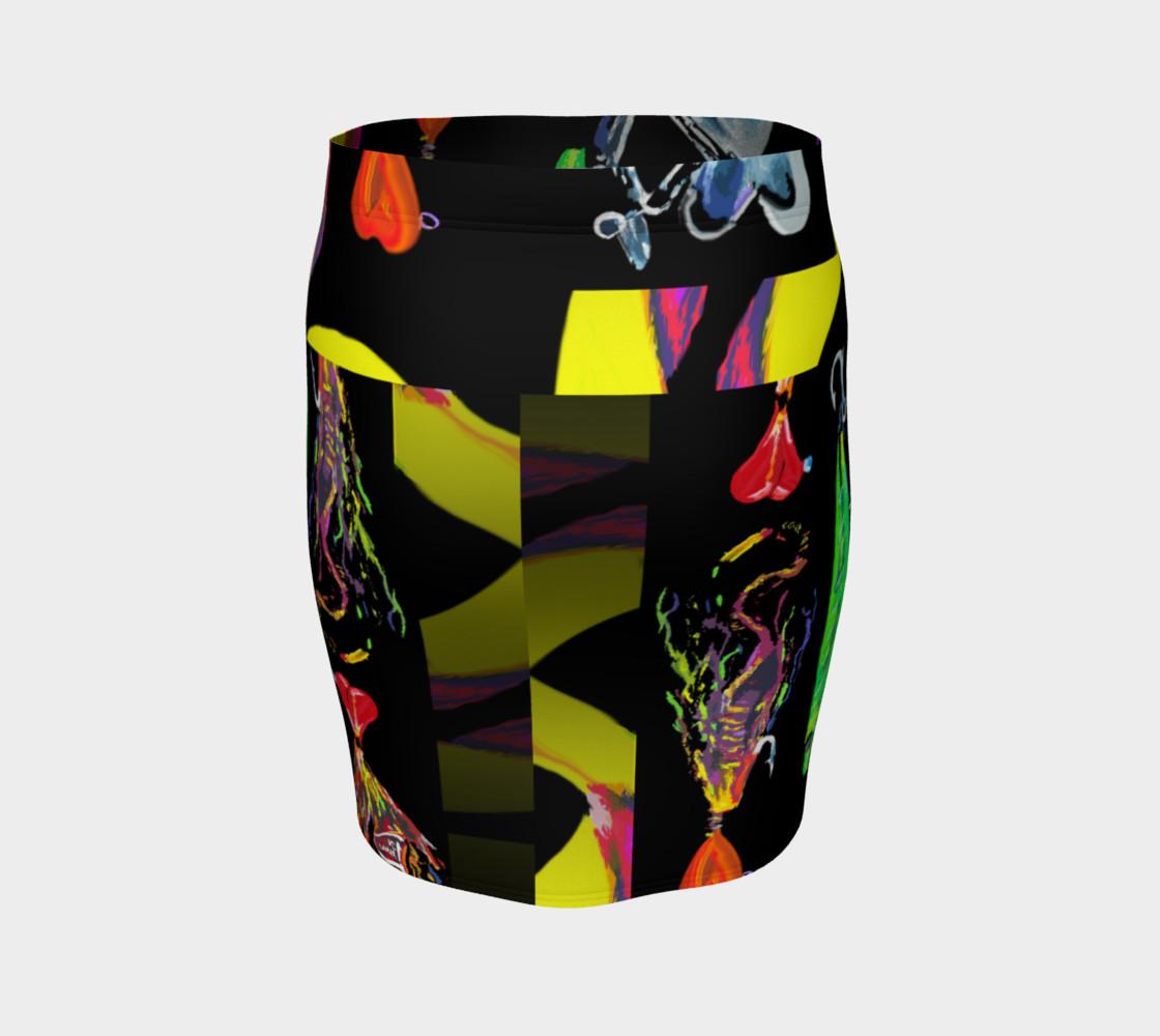 Aperçu de The New a-Lure-ing You 3-d Optical-Print Super Skirt (Instant Convo Starter!) #4
