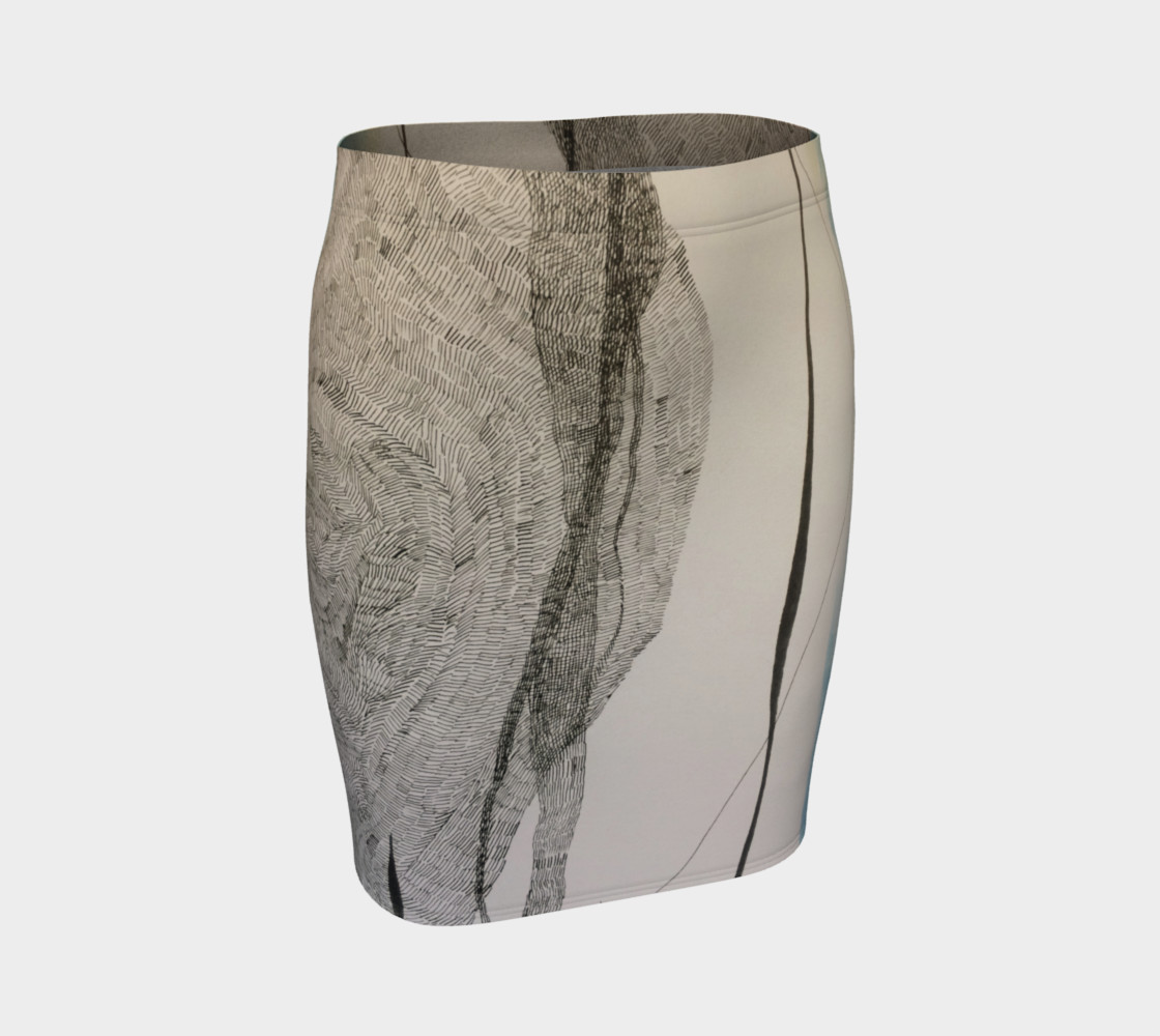 ocean current pencil skirt preview #1