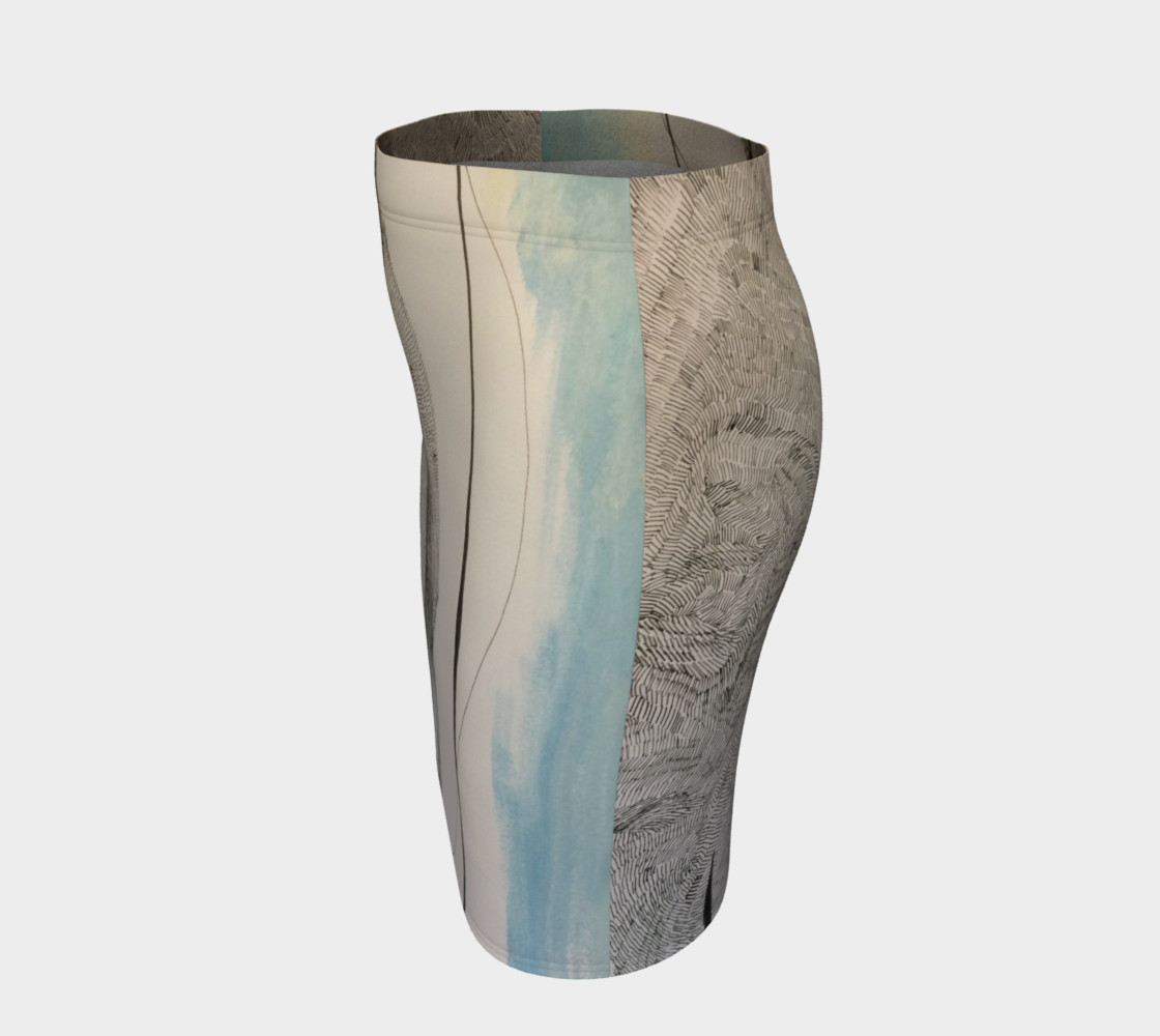 ocean current pencil skirt preview #2