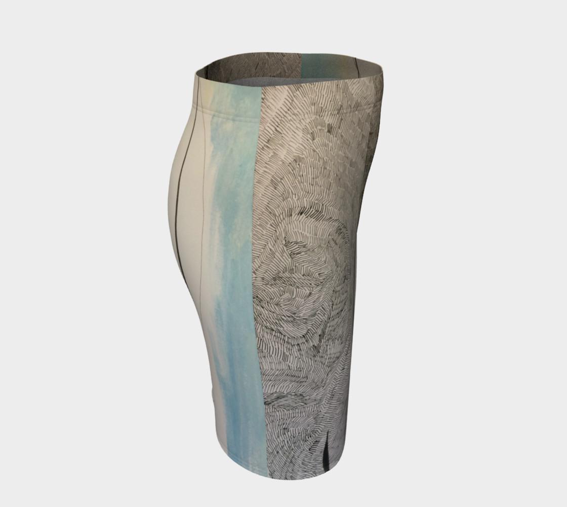 ocean current pencil skirt preview #3