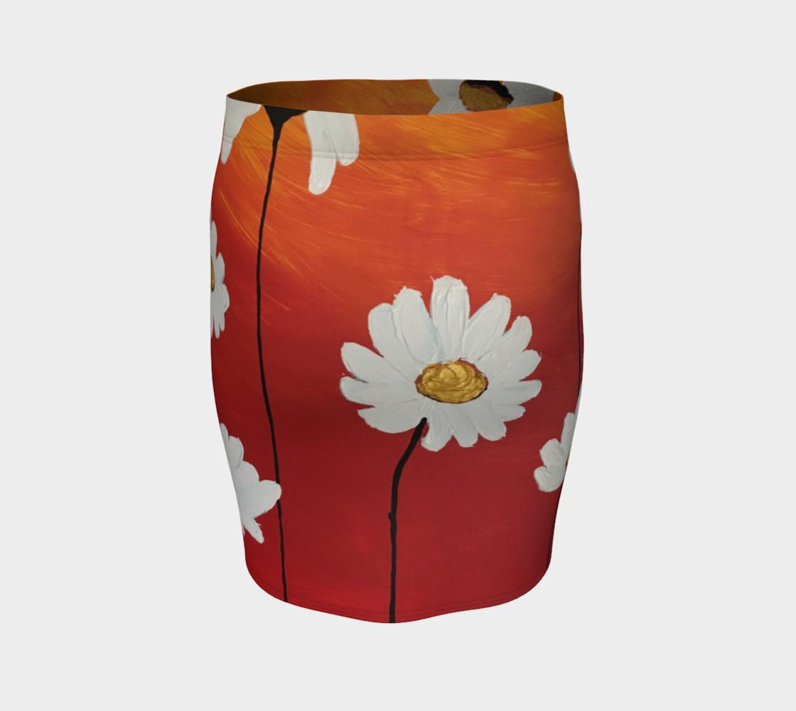 Daisy Sunset Fitted Skirt preview #4
