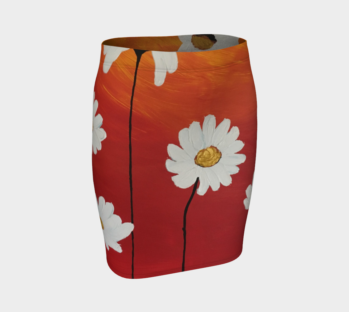 Daisy Sunset Fitted Skirt thumbnail #2